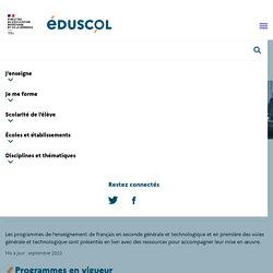 Programmes et ressources en français - PREMIÈRE