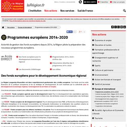 Programmes européens 2014-2020