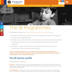IB Programmes for Schools in India - MLSI