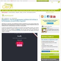 Kartable.fr : tous les programmes scolaires de la 6ème à la Terminale, en accès libre et gratuit