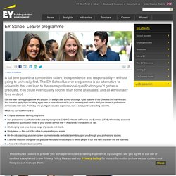 Ernst & Young EY School Leaver Programme - EY