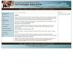 Guides - TÉLUQ – Programmes en technologie éducative