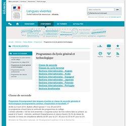 Programmes du lycée général et technologique-Langues vivantes-Éduscol