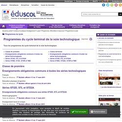 Programmes terminale technologique