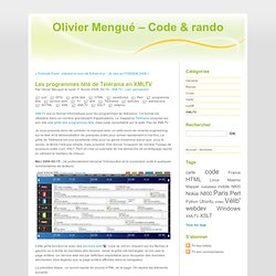 Les programmes télé de Télérama en XMLTV - Olivier Mengué – Code & rando