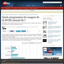 Quels programmes les usagers de la SVOD aiment-ils ? - ZDNet