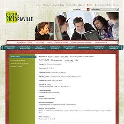Ouvrière ou ouvrier agricole - Postes offerts - Programmes d'études et formations - Cégep de Victoriaville