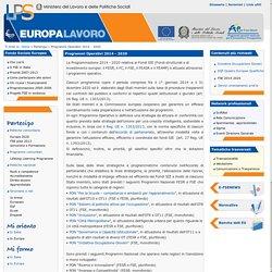 Programmi Operativi 2014 - 2020