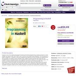 Programming in Haskell : Graham Hutton : 9780521692694