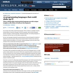 10 programming languages that could shake up IT | Application Development