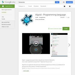 Algoid - Programming language – Applications Android sur GooglePlay