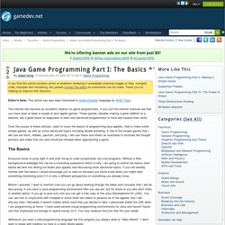 Java Game Programming Part I: The Basics