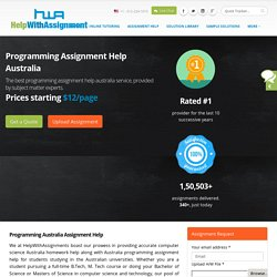 Programming Australia Assignment Help