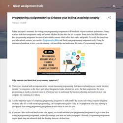 Programming Assignment Help: Enhance your coding knowledge smartly