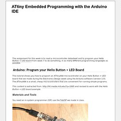 Programming ATtiny with the Arduino IDE