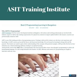 Best C Programming Learning in Bangalore – ASIT Training Institute