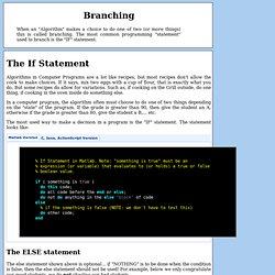 Programming - Branching