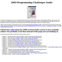 Programming Challenges Audio