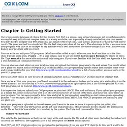 CGI Programming 101: Chapter 1: Getting Started