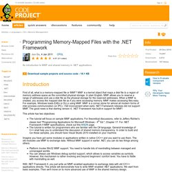 Programming Memory-Mapped Files with the .NET Framework