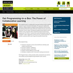 Pair Programming-in-a-Box: The Power of Collaborative Learning