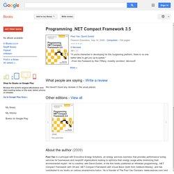 Programming .NET Compact Framework 3.5 - Paul Yao, David Durant