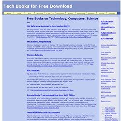 Free Programming, SQL Data Coding, Computer Science. IT Books