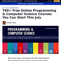 680+ Free Online Programming & Computer Science Courses You Can Start This June