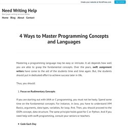4 Ways to Master Programming Concepts and Languages – Need Writing Help
