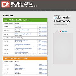 The D Programming Language Conference 2013