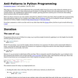 Anti-Patterns in Python Programming - Constantine Lignos