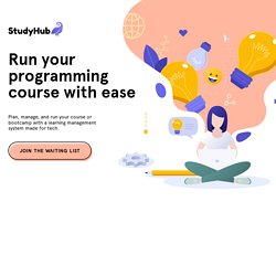 Run your programming course with StudyHub