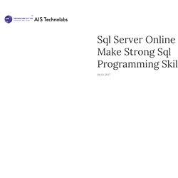 Sql Server Online Tests - Make Strong Sql Programming Skills