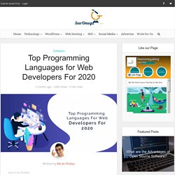 Top Programming Languages for Web Developers For 2020