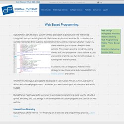 Web development company miami - Digital Pursuit