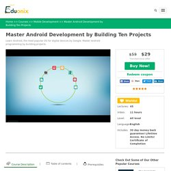 Learn Android Programming & Android App Development Online