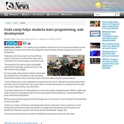 Code camp helps students learn programming, web development