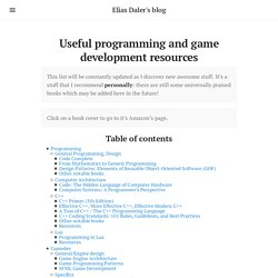 Useful programming and game development resources · Elias Daler's blog