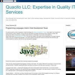 Stunning Web Development Services in Texas