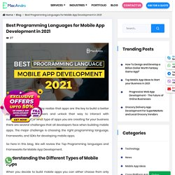 Top Programming Languages for Mobile App Development in 2021