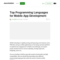 Top Programming Languages for Mobile App Development