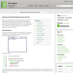 Getting Started Programming with Qt