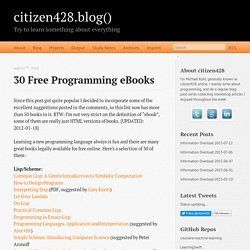 30 free programming eBooks - citizen428.blog()