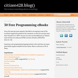 30 free programming eBooks « citizen428.blog()