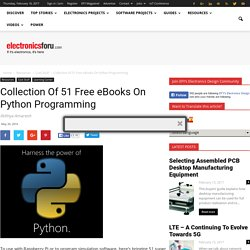 Collection Of 51 Free eBooks On Python Programming - Electronics For You