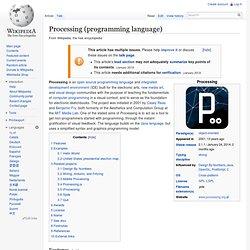 Processing (programming language)