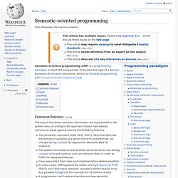 Semantic-oriented programming