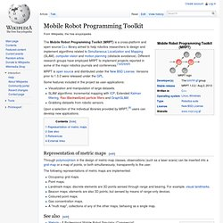 Mobile Robot Programming Toolkit