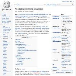 Ada (programming language)