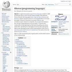 Oberon (programming language)
